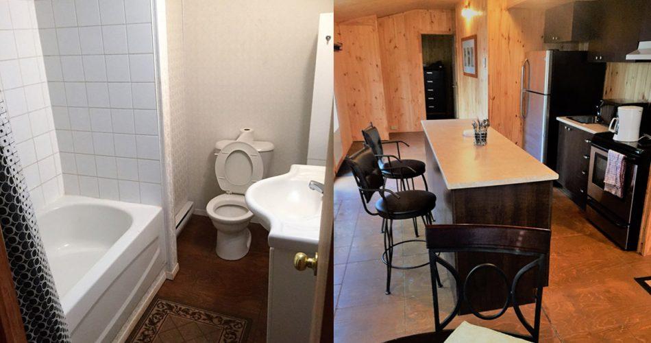 salle de bain et salon location de maison appartement et chalet meuble a schefferville canada 2019